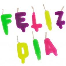 Velas letras Feliz Día
