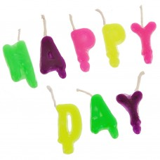 Velas letras Happy Day