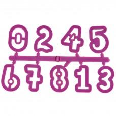 Cortador para galletas pequeño números rosado