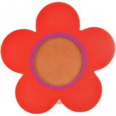 Portarretrato naranja madera Flor