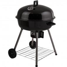 BBQ redondo a carbón con tapa y ruedas