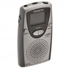 Radio portátil AM/FM con audífonos y parlante gris Sangean