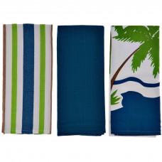 Juego de 3 toallas 70x45 cm Playa algodón Haus