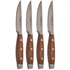 Juego de 4 cuchillos para carne Continental Teak Hampton Forge