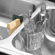 Organizador doble de cubiertos para lavaplatos Clear Interdesign
