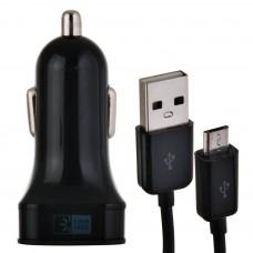 Cargador para auto con cable Micro USB negro Case Logic