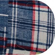 Juego de cubrecama Quilt Cuadros Patchwork azul/verde 100% algodón Haus