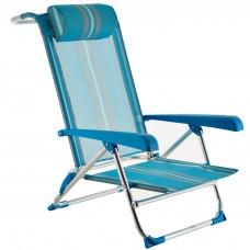 Silla para playa reclinable con almohada Rayas