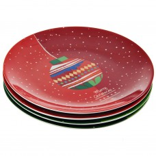 Juego de 4 platos para postre Esfera Navideña Surtido caja de regalo