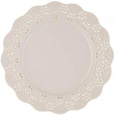 Plato para postre 20 cm Borde Calado porcelana Haus