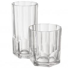 Juego de 6 vasos vidrio Arezzo