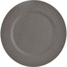 Plato base de plástico Escarcha 33 cm gris Haus