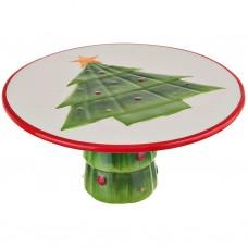 Plato para pastel Árbol de Navidad 28 cm