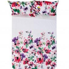 Juego de sábanas Flores Alessaandra 180 hilos / polialgodón Saafartex