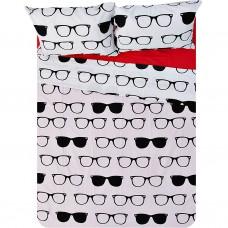 Juego de sábanas Gafas Alexia 150 hilos 100% algodón Saafartex