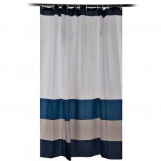 Cortina para baño con 12 ganchos Rayas Multicolor 100% poliéster