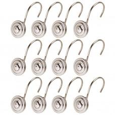 Juego de 12 ganchos de metal para cortina Redondo