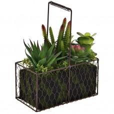 Planta con maceta de alambre plástico / espuma