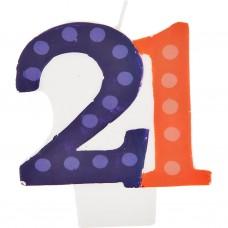Vela cumpleaños número 21 Creative Converting