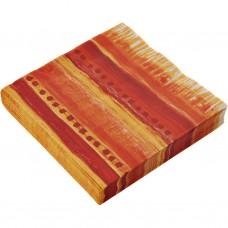 Juego de 20 servilletas lunch Colori Rot