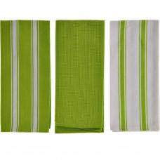 Juego de 3 toallas 70x45 cm Rayas 100% algodón Haus