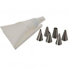 Manga de polipropileno para reposteria con 6 boquillas de acero inoxidable Novo