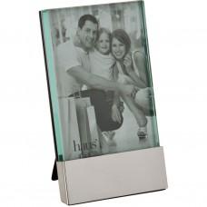 Portarretrato Franja Silver vidrio / aluminio Haus
