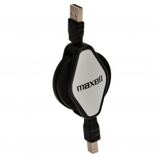 Cable retráctil USB para impresora y scanner Maxell