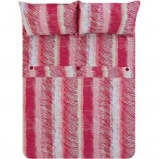 Juego de duvet Rayas Rojo 144 hilos 50% algodón - 50% poliéster Mihos