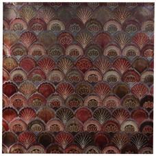 Cuadro Abstracto Naranja 90 x 90 cm