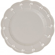 Plato tendido de porcelana Borde Perforado Blanco Haus