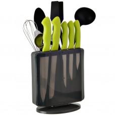 Juego de 13 piezas cuchillos / utensilios de cocina con organizador acero inoxidable