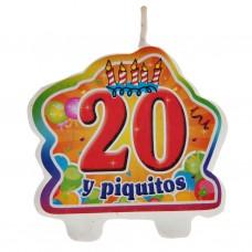 Vela 20 y piquito