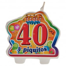 Vela 40 y piquito