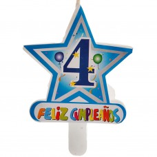 Vela Número 4 Estrella