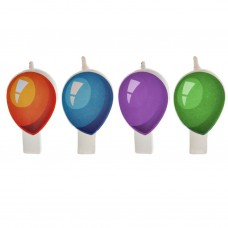 Juego de 4 velas Globos Multicolor