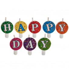 Vela letras Happy Day