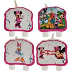 Juego de 4 velas Minnie Mouse