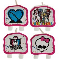 Juego de 4 velas Monster High
