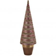 Árbol decorativo pequeño con escarcha poliresina