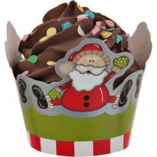 Juego de 6 cenefas para cupcake Navidad Diseño Surtido