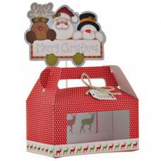 Caja para cupcakes 2 servicios Diseño Surtido Navidad
