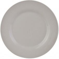 Plato para ensalada de porcelana Borde Líneas Horizontales
