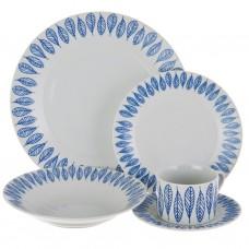 Vajilla de porcelana 20 piezas para 4 puestos Hojas Haus