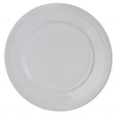 Plato para ensalada de cerámica Filo Bolas Blanco Haus