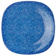 Plato para ensalada de melamina Azul / Blanco