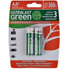 Juego de 2 pilas recargables AA UltraLast