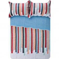 Juego de cubrecama Rayas Multicolor polialgodón Haus