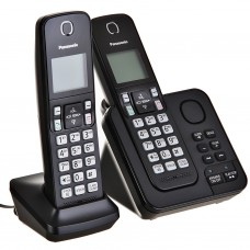 Teléfono inalámbrico con 2 auriculares, contestador y bloqueo de llamadas KX-TGC362LAB Panasonic