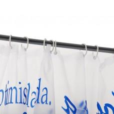 Cortina para baño con ganchos 100% PVC Palabras